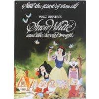 Placa metálica Disney Blancanieves y los Siete Enanitos