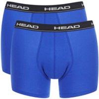 Head Mens 2-Pack Boxers - Blue/Black - S - Blue/Black