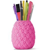 Seriously Tropical Pineapple Pen Pot - Pink - Pineapple Gifts