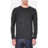 Selected Homme Mens Tower Merino Crew Neck Knitted Jumper - Medium Grey Melange - L