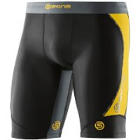Skins DNAmic Mens Half Tights - Black/Citron - XL - Black/Yellow
