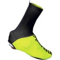 Sportful Lycra Shoe Cover - Black/Yellow Fluo - S - Black/Yellow