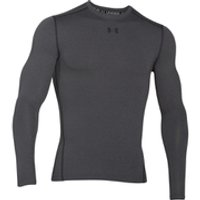 Under Armour Mens ColdGear Armour Compression Long Sleeve Crew Top - Dark Grey - M - Grey