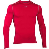 Under Armour Mens ColdGear Armour Compression Long Sleeve Crew Top - Red - S - Red