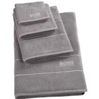 Hugo BOSS Plain Towel Range - Concrete - Guest Towel - Grey