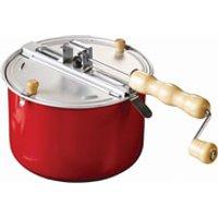 Eddingtons Traditional Stovetop Popcorn Maker - Red/Steel - Popcorn Gifts