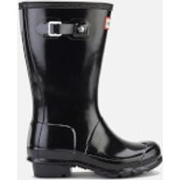 Hunter Kids' Original Gloss Wellies - Black - UK 1 Kids - Black