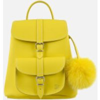 Grafea Womens Sunny Fur Pom Backpack - Yellow
