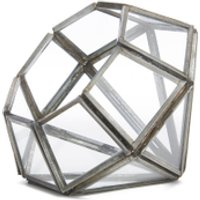 Nkuku Aketa Glass Planter - Antique Zinc - Pointed