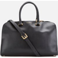 Lulu Guinness Womens Vivienne Medium Smooth Leather Tote Bag - Black