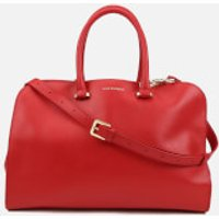 Lulu Guinness Womens Vivienne Medium Smooth Leather Tote Bag - Red