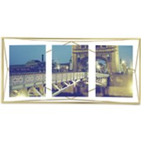 Umbra Prisma Three Photo Frame - Matte Brass - 6 x 4
