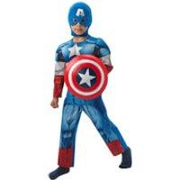 Marvel Avengers Boys' Deluxe Captain America Fancy Dress - 7-8 Years - Multi