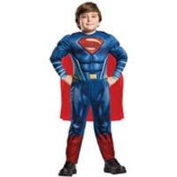 DC Comics Boys Deluxe Superman Fancy Dress - 7-8 Years