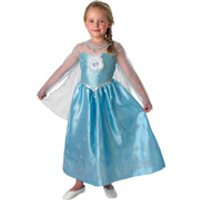Disney Frozen Girls' Deluxe Elsa Fancy Dress - 5-6 Years - Multi