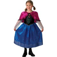 Disney Frozen Girls' Deluxe Anna Fancy Dress - 5-6 Years - Multi