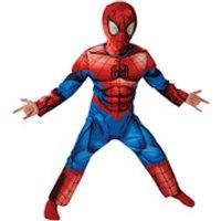Marvel Boys' Deluxe Spider-Man Fancy Dress - 5-6 Years - Multi