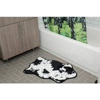 cowhide bath rug  black/white