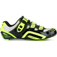Force Race Carbon Cycling Shoes - Black/Fluro - UK 5.5/EU 39 - Black/Yellow