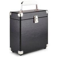 GPO Retro Portable Carry Case for 7-Inch Vinyl Records - Black