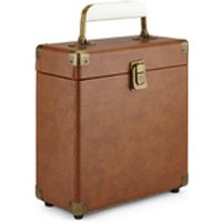 GPO Retro Portable Carry Case for 7-Inch Vinyl Records - Brown - Brown Gifts