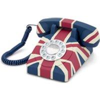 GPO Retro Vintage British Union Jack Art Deco Rotary Push Button Telephone