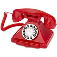 GPO Retro 1929S Classic Carrington Push Button Telephone – Red