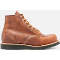 Red Wing Red Wing Men's 6 Inch Moc Toe Leather Lace Up Boots - Copper Rough and Tough/Black Sole - UK 11/US 12 - Brown