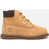 Timberland Toddlers Pokey Pine Size Zip Lace Up Boots - Wheat - UK 7.5 Toddlers - Tan