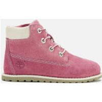 Timberland Toddlers' Pokey Pine Leather 6 Inch Zip Boots - Pink - UK 7 Toddler - Pink
