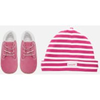 Timberland Babies Crib Booties with Hat Gift Set - Fuchsia Rose - UK 3.5 Baby - Pink
