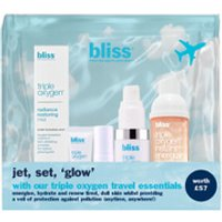 bliss Triple Oxygen Travel Essentials Set (Worth 57.00)
