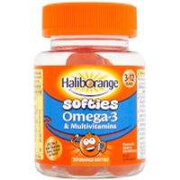 Haliborange Kids Multivitamin & Omega 3 Softies - 30 Orange Fruit Shapes