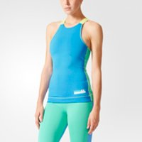 adidas Women's Stellasport Gym Tank Top - Blue/Green - XXS/UK 0-2 - Blue