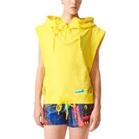 adidas Womens Stellasport Sleeveless Gym Hoody - Yellow - XXS/UK 0-2 - Yellow