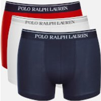Polo Ralph Lauren Men's 3 Pack Boxer Shorts - White/Red/Blue - XL - Multi