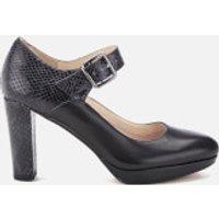 Clarks Womens Kendra Gaby Leather Mary Jane Heels - Black Combi - UK 5 - Black