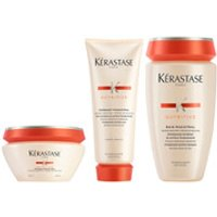 Krastase Nutritive Fondant Magistral 200ml & Nutritive Bain Magistral 250ml & Nutritive Masque Magistral 200ml