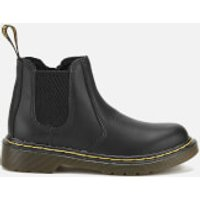 Dr. Martens Kids' 2976 J Softy T Leather Chelsea Boots - Black - UK 2 Kids