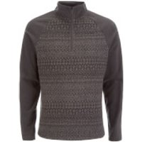 Craghoppers Men's Elliston Zip Neck Fleece - Black Pepper - L - Grey