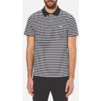 Lacoste Mens Striped Polo Shirt - Navy Blue/Flour - 6/XL - Blue