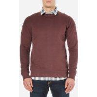 Selected Homme Mens Otto Crew Neck Sweatshirt - Bitter Chocolate - M
