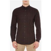 Selected Homme Mens Elliot Long Sleeve Shirt - Bitter Chocolate - M - Brown