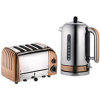 Dualit Classic Vario 4 Slot Toaster & Kettle Bundle - Copper - Classic Gifts
