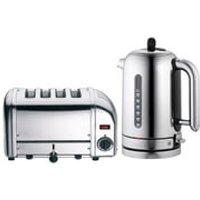Dualit Classic Vario 4 Slot Toaster & Kettle Bundle - Polished Stainless Steel