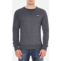 Superdry Mens Orange Label Crew Sweatshirt - Navy Grit - S - Navy