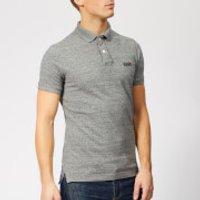 Superdry Men's Classic Pique Polo Shirt - Flint Steel Grit - XL