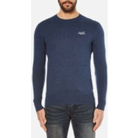 Superdry Mens Orange Label Crew Jumper - Dull Navy - L - Navy