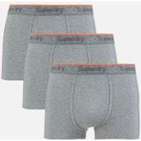 Superdry Men's Orange Label Triple Pack Boxer Shorts - Dark Marl - S - Grey