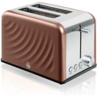 Swan ST19010TWN 2 Slice Twist Toaster - Copper